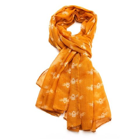 BEES SCARF MUSTARD
